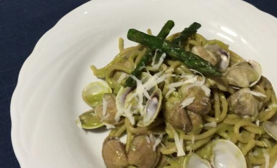 ricetta primo piatto con asparagi soutè di lupini pecorino tavoloper2 food blogger napoli fara san martino